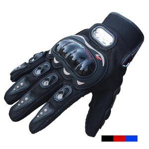 YOUME Professional Custom Protective Black Pro Biker Gloves High Quality Leather Motorcycle Gloves For Sale