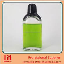 Wholesale Perfume Sample Vial Bottle Empty Clear Glass 50ml with Cap With black flap