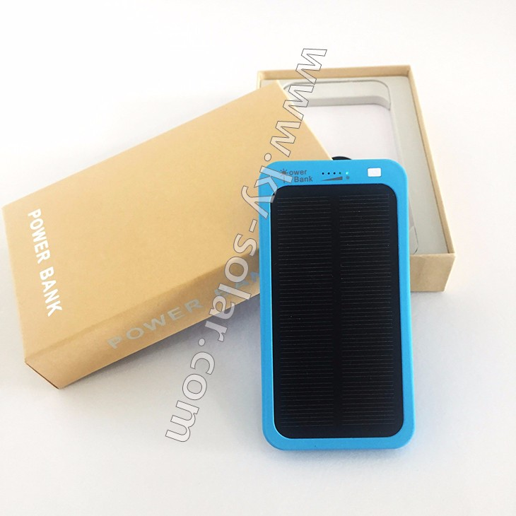High quanlity portable 5000mAh USB solar charger for mobile phone