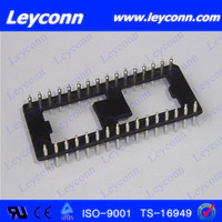 2.54mm pitch dual in line pin header sraight solder DIP ic socket adpter electronic connector