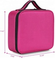 Travel Makeup Train Hard EVA Case with Adjustable Dividers Makeup Organizer bag Portable Cosmetic Cases with Brush Holders