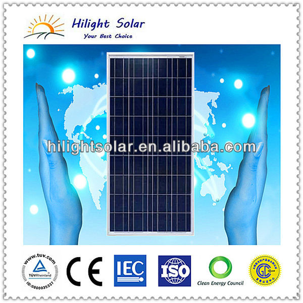 130W poly solar panel/poly solar charging panel OEM
