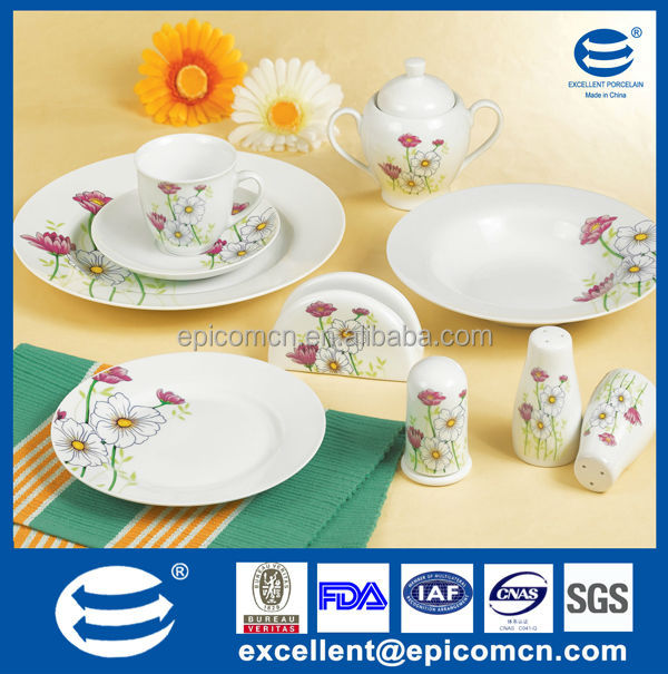 37pcs personalized Turkish homeware porcelain breakfast set with kitchen napkin accessories high quality