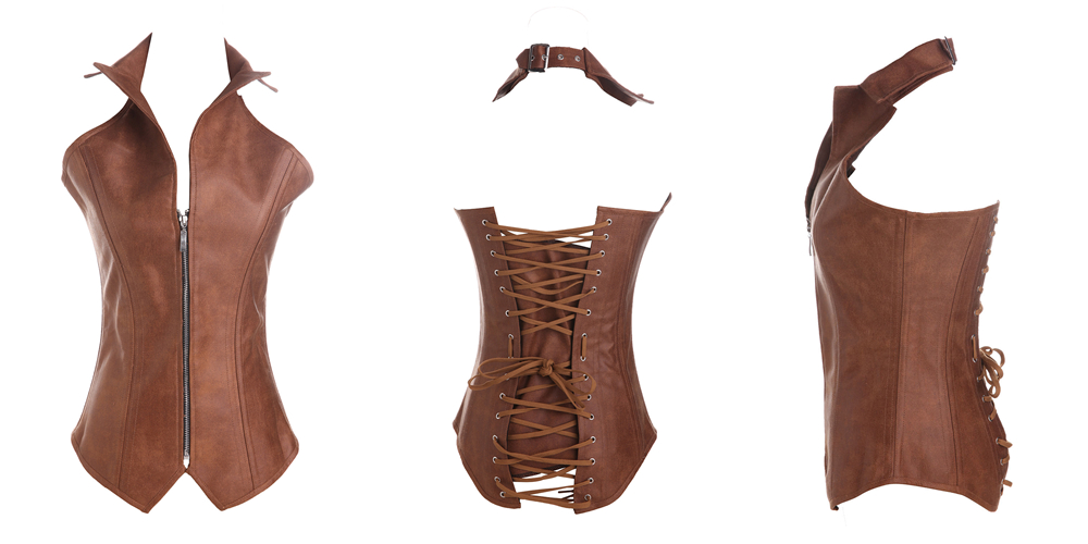 Leather gothic corselet