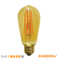 LED Lamp Bulb Amber Dimmable Filament LEDs ST18/ST20 120V 4W/7W Base E26 1800K UL CRI80 260lm-500lm LED bulb lighting