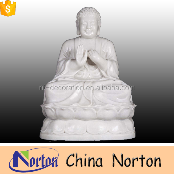 hand carved outdoor white marble buddha lady statues NTMS-R212S