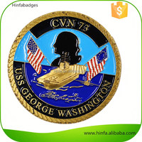 Cheap Price Factory Gold Military Challenge Coins with Enamel Logo
