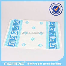 Blue semi-circle design pp bath mat