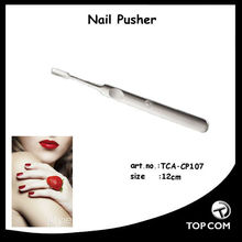 high end shine stainless steel slanted cuticle pusher
