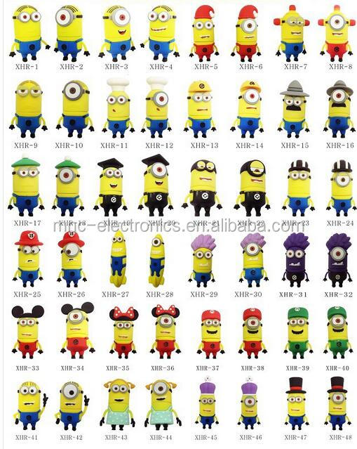 2016 Best seller mini cartoon minion despicable me usb flash drive 1G 2G 4G 8G 16G 32G