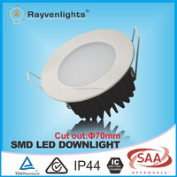 SAA approved EPISTAR 10w smd led recessed downlight dimmable with 90mm cut out