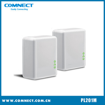 Gigabit power line communication module Self-learning with high quality