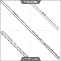 NC1532 Aceworks Silver Jewelry 925 Sterling Silver Box Chain Rolo Chain