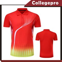 Red custom logo school polo t shirt with subliamtion design