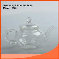 250ml lampblown teapot glassware with a glass lid