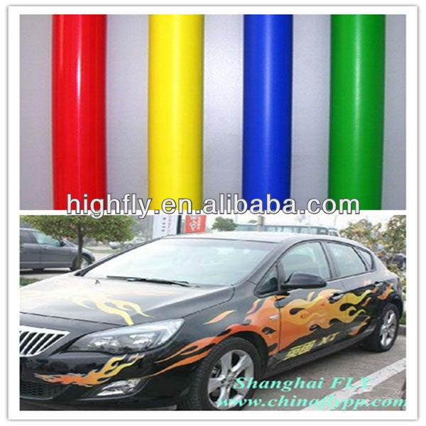Glossy Self Adhesive Polymeric PVC Vinyl,car emblem,different color car wrapmaterial