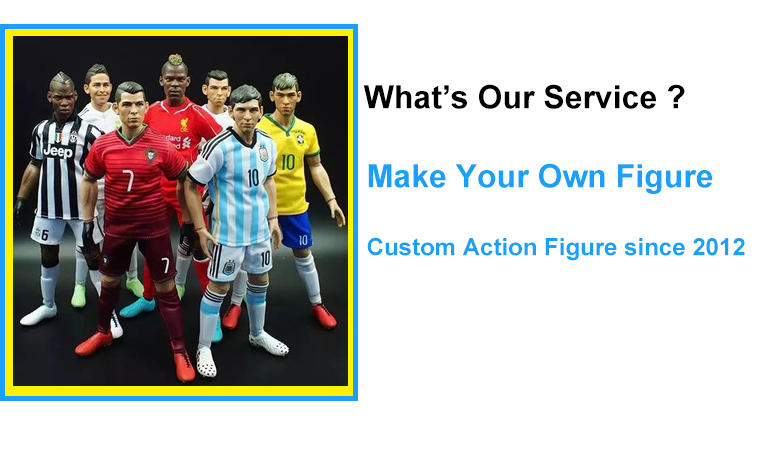 Custom Football Soccer Player Action Figure Maker, Realistic Jointed Movable Action Figure Oem Maker,Make Your Own Action Figure