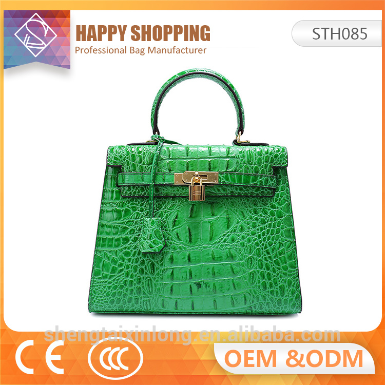 New design genuine leather handbag making for fashion ladies