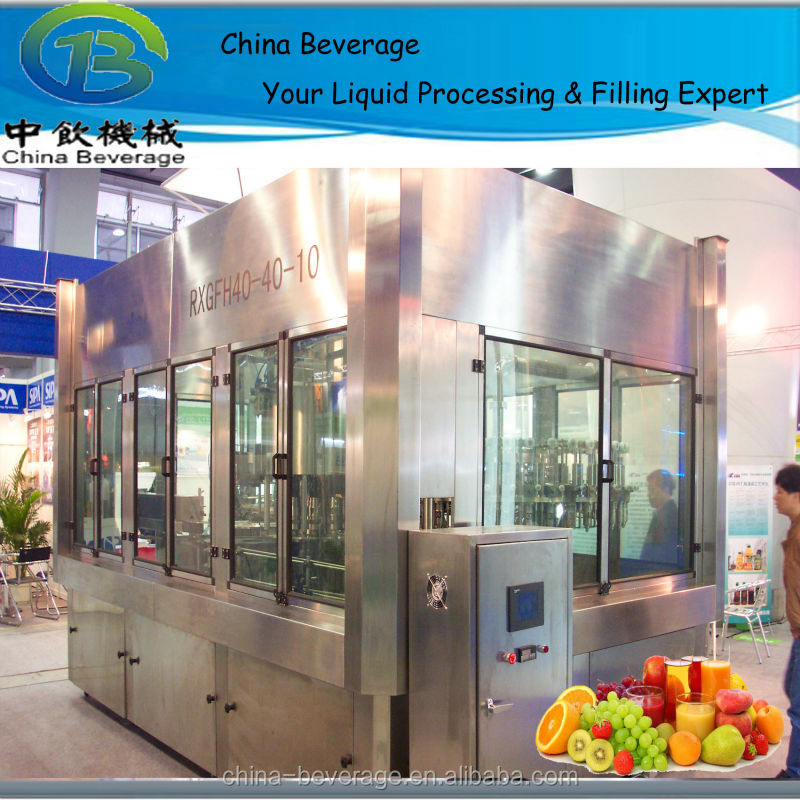 precise technology hot filling for flavored water machine