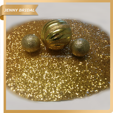 PM001A Round gold metallic sequin fabric placemats