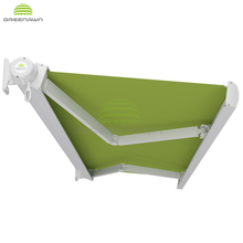 Greenawn GR820 Outdoor Full Cassette Motorised Retractable AwningS with electric awning motor and awning hand crank