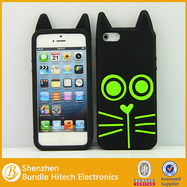 cartoon 3D animal silicon cover for iphone5,for iphone 5s silicon case