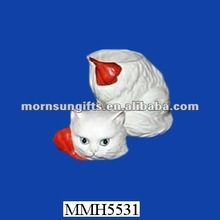 Persian Cat pottery ceramic small candy container