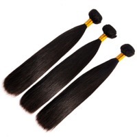 16 Inch Raw genesis virgin Brazilian straight hair, soft and smooth touching Brazilian straight hair