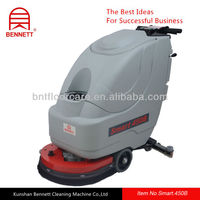 walk behind type automatic floor scrubber working with traction motor 24v DC