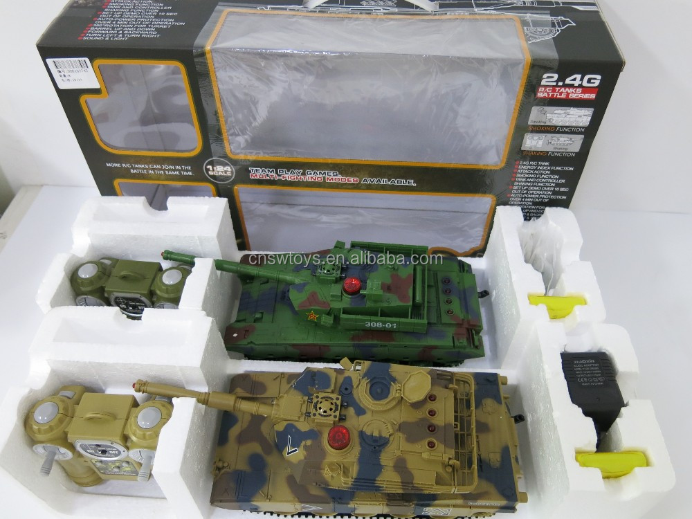 DD0103742 Team play games smoking 2.4G RC battle tank