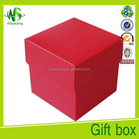 Empty red packing box diwali gift boxes rigid cardboard box
