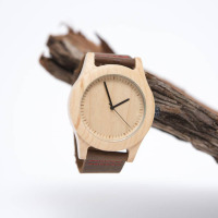 koda maple wood/bamboo man watch with miyota movemnet free shipping