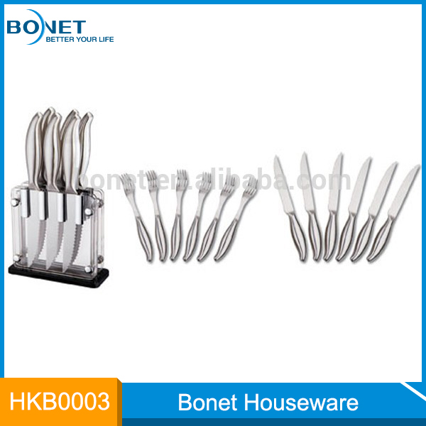 Factory direct sale rust hollow handle Kitchen Knife Set steak knife set