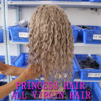Alibaba Expres Grey Hair Lace Wigs Deep Curl Indian Remy Gray Hair Lace Front Wigs With Baby Hair