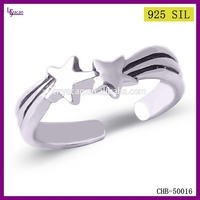 2015 European Popular Silver Star Ring Jewelry Indian Ladies Gold Finger Ring