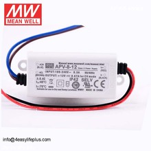 MeanWell Low Cost 12V 8W 0.67A LED Driver Indoor LED Power Supply APV-8-12
