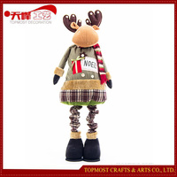Handmade Spring 145cm Reindeer Plush Toys Wholesale Christmas Decorations