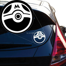 Die cut car decal pokemon sticker window transfer sticker