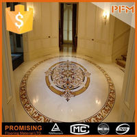 latest natural best price marble water jet medallion table