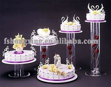 5 tiered acrylic wedding cake stand for party decoration