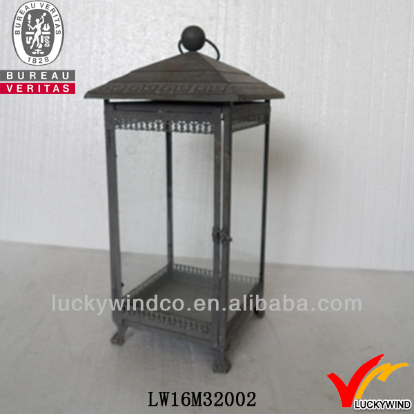 glass and recycled iron crafts lantern vintage