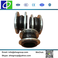 Pipeline fittings with flange galvanized rubber expansion joint