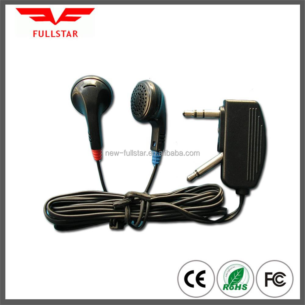 wholesale Disposable Earphone mobile accessories for Airline