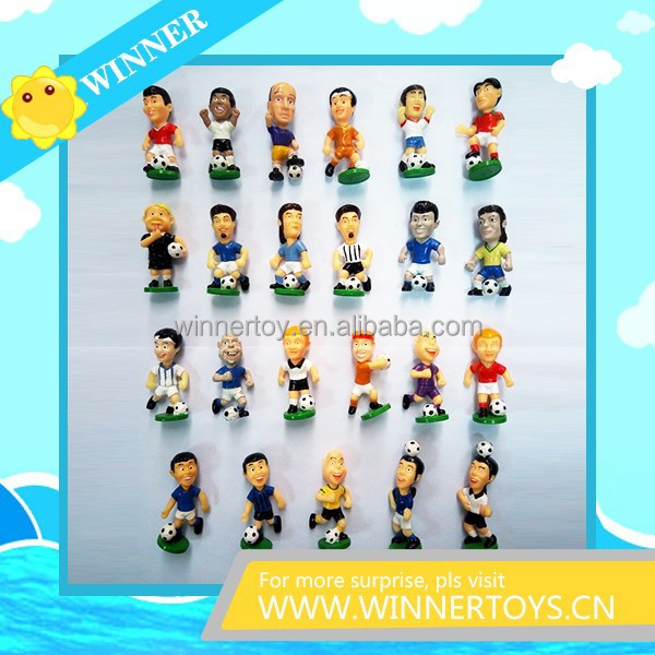 Kinds of plastic football man figures