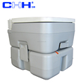 camping portable toilets with rotating emptying spout