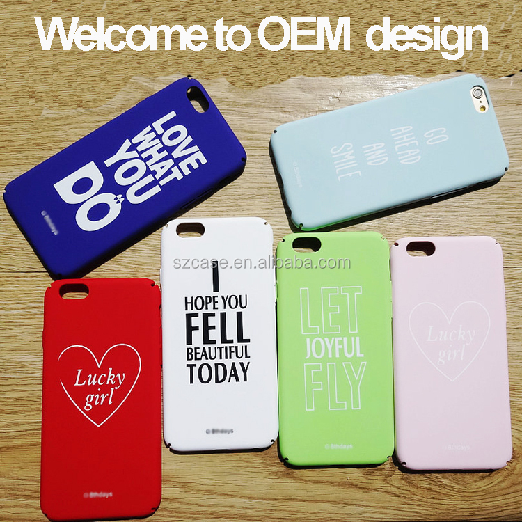 Accept Custom OEM DIY Case Mobile Phone Cover for Iphone se 6 7 plus Hard PC IMD Case