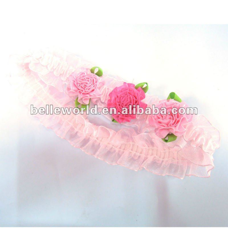 baby girl pink carnation flower headband
