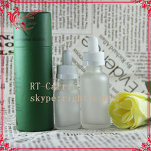 frosted glass bottle for cosmetic packaging