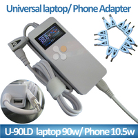USB charger LCD Display universal laptop charger 90W 13 tips with UK /US Power cable