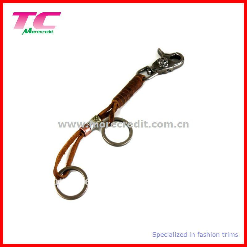 new style leather key chain